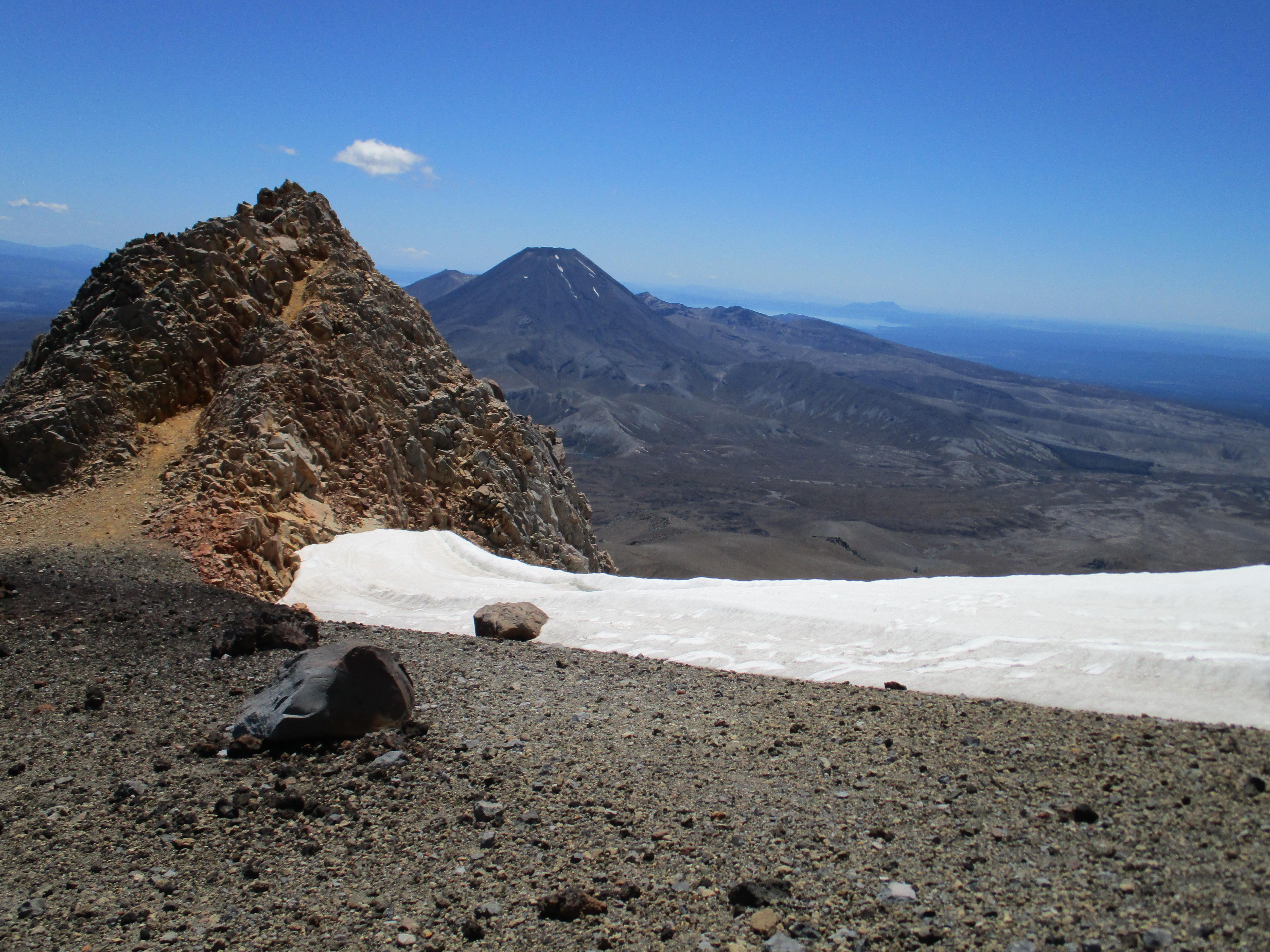 View of Tongariro & Ngauruhoe from Ruapehu